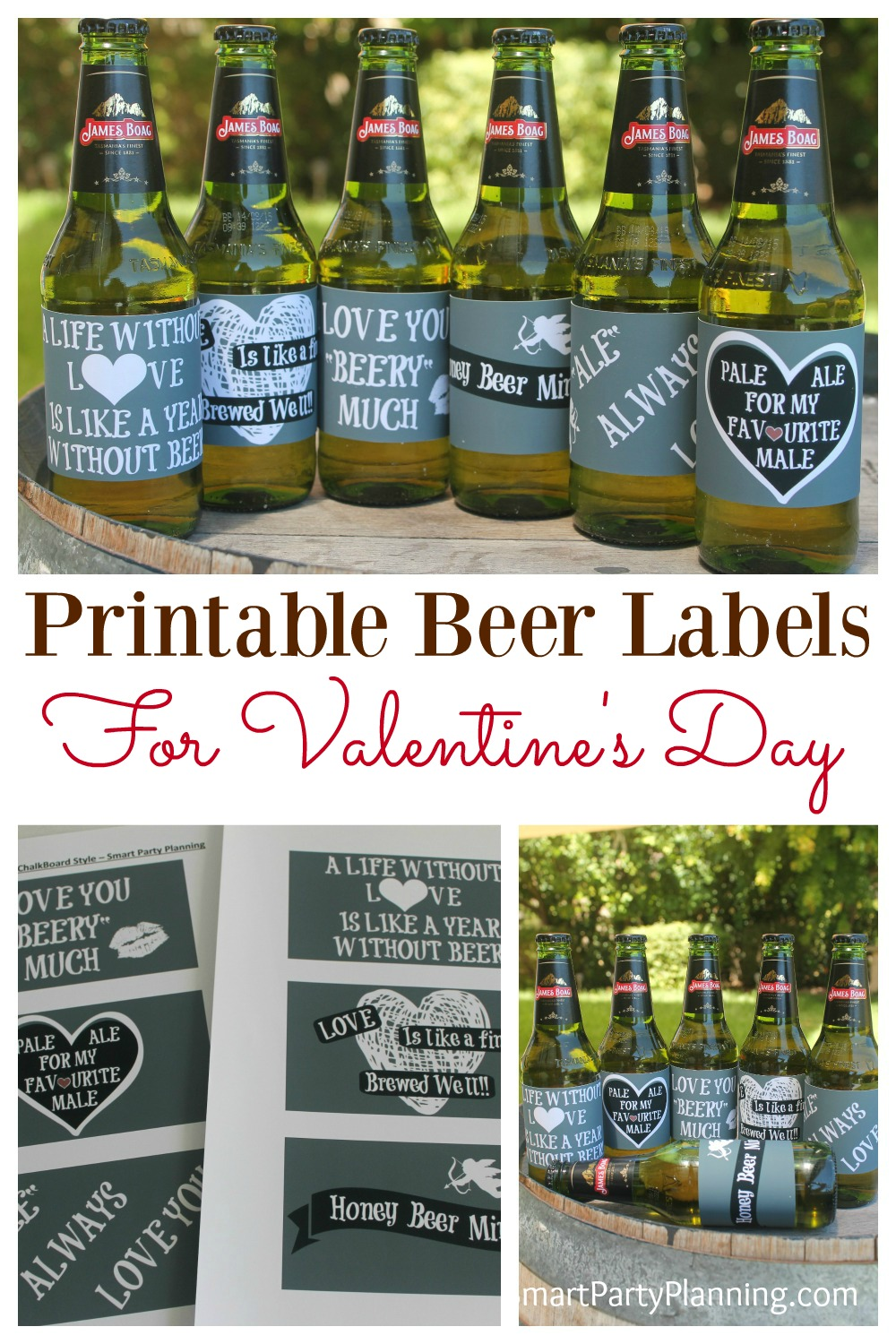 picture about Printable Beer Labels identified as The Most straightforward Layout Attractive Labels For Valentines Working day